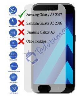 Protector de Pantalla Cristal Templado Vidrio 9H para Samsung Galaxy A3 2017