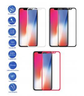 Protector de Cristal Templado Completo 3D 9H para Apple Iphone X 10 Elige Color