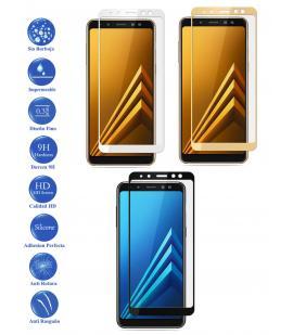 Protector de Cristal Templado Completo para Samsung Galaxy A8 2018 Elige Color