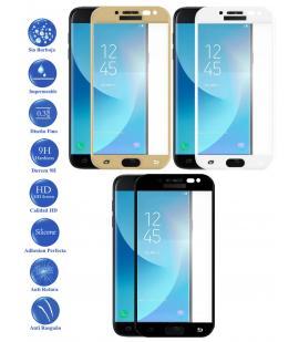 Protector de Cristal Templado Completo 9H para Samsung Galaxy J5 Pro Elige Color