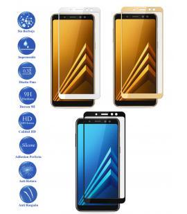 Protector de Cristal Templado Completo para Samsung Galaxy A6 Plus Elige Color