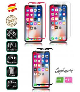 Protector de Cristal Templado Completo 3D 9H para Apple Iphone X 10 Elige Color
