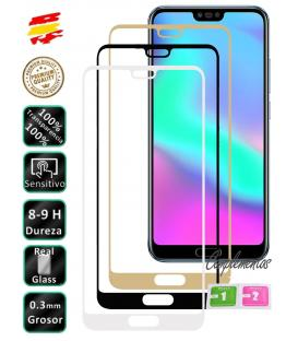 Protector de Cristal Templado Completo 3D 9H para Huawei Honor 10 Elige Color