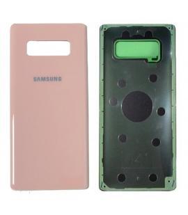 Tapa trasera de bateria cristal trasero para Samsung Galaxy Note 8 Rosa