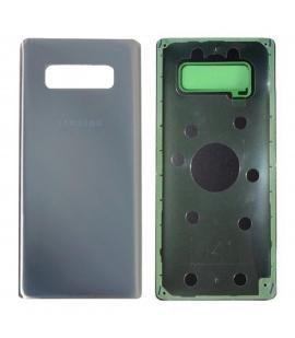 Tapa trasera de bateria cristal trasero para Samsung Galaxy Note 8 Plata