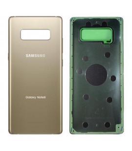 Tapa trasera de bateria cristal trasero para Samsung Galaxy Note 8 Dorado