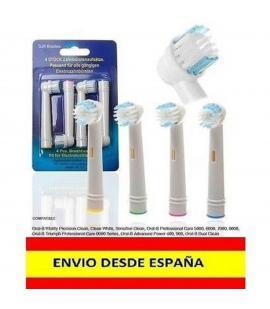 8 Recambios compatible con cepillo de dientes electrico ORAL B cabezal BRAUN