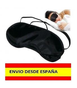 2x Antifaz Negro Mascara para Dormir Relajarse Viajar Tren Avion Cama tapar luz