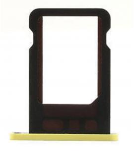 Bandeja de repuesto porta nano sim para iphone 5C soporte tarjeta color amarillo