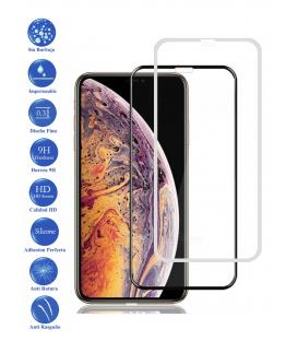 Protector de Cristal Templado Completo 9H para Apple Iphone XS Max Elige Color