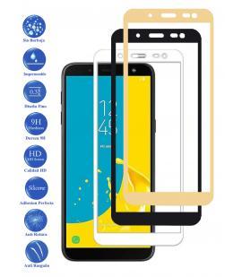 Protector de Cristal Templado Completo para Samsung Galaxy J6 2018 Elige Color