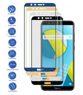 Protector de Cristal Templado Completo 9H para Huawei Honor 9 Lite Elige Color