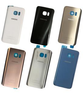 Tapa trasera de bateria cristal trasero para Samsung Galaxy S7 Edge Elige color