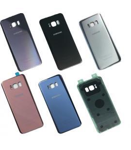 Tapa trasera de bateria cristal trasero para Samsung Galaxy S8 Elige color
