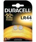 Pilas de boton Duracell bateria original Alcalina LR44 1,5V blister 10X Unidades
