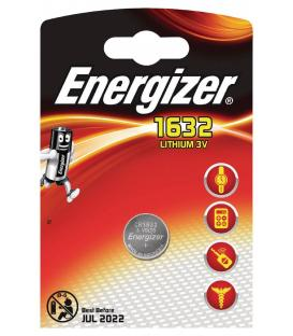 Pilas de boton Energizer bateria original Litio CR1632 3V en blister 5X Unidades