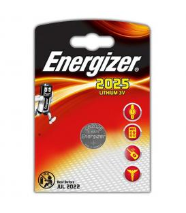 Pilas de boton Energizer bateria original Litio CR2025 3V en blister 5X Unidades