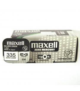 Pilas de boton Maxell bateria original Oxido de Plata SR512SW blister 10X Uds