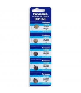 Pilas de boton Panasonic bateria original Litio CR1025 3V en blister 5X Unidades