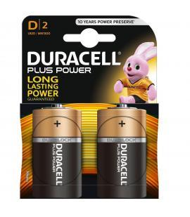 Pilas Duracell bateria original Alcalina Tipo D LR20 PLUS POWER blister 2X Uds