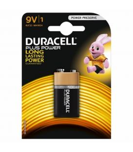 Pilas Duracell bateria original Alcalina Petaca LR61 PLUS POWER 9V blister 2X Uds