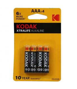 Pilas Kodak bateria original Alcalina Tipo AAA LR03 en blister 4X Unidades
