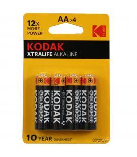 Pilas Kodak bateria original Alcalina Tipo AA LR6 en blister 4X Unidades