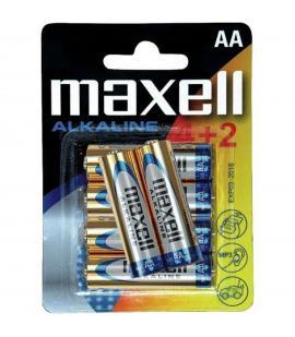Pilas Maxell bateria original Alcalina Tipo AA LR6 en blister 6X Unidades