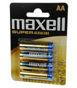 Pilas Maxell bateria original Alcalina Tipo AA LR6 SUPER ALKALINE blister 4X Uds