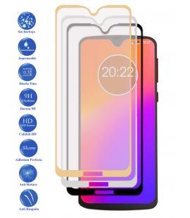 Protector de Cristal Templado Completo 9H para Motorola Moto G7 Plus Elige Color