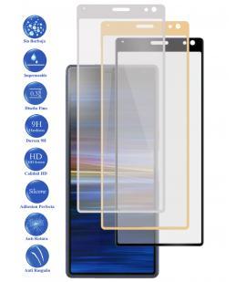 Protector de Cristal Templado Completo 3D 9H para Xperia 10 Elige Color