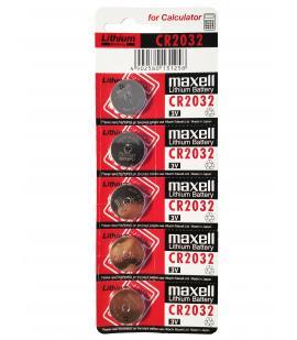 Pilas de boton Maxell bateria original Litio CR2032 3V en blister 5X Unidades