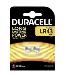 Pilas de boton Duracell bateria original Alcalina LR43 1.5V blister 4X Unidades
