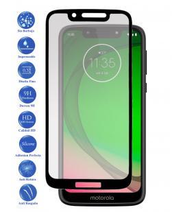 Protector de Cristal Templado Completo 3D 9H para Motorola G7 Play Elige Color