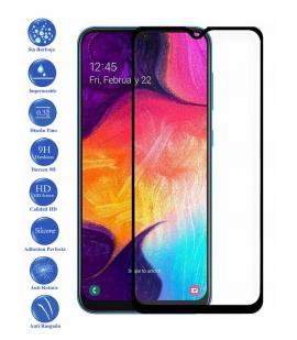 Protector de Cristal Templado Completo 3D 9H para Galaxy A50 Elige Color