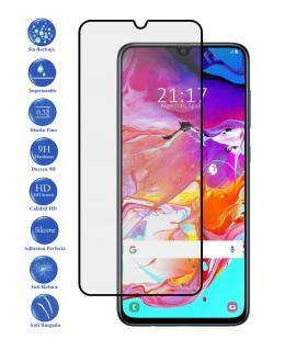 Protector de Cristal Templado Completo 3D 9H para Galaxy A70 Elige Color