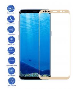 Protector de Pantalla Cristal Templado Curvo para Samsung Galaxy S8 Plus Dorado