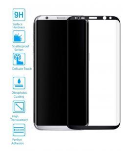 Lote Protector de Pantalla Cristal Templado Curvo Samsung Galaxy S8 Plus Negro