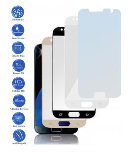 Protector de Cristal Templado Completo 3D 9H para Samsung Galaxy S7 Elije Color
