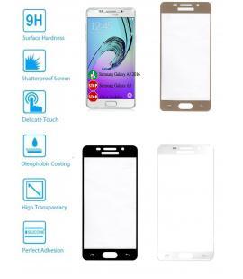 Protector de Cristal Templado Completo para Samsung Galaxy A3 2016 Elije Color