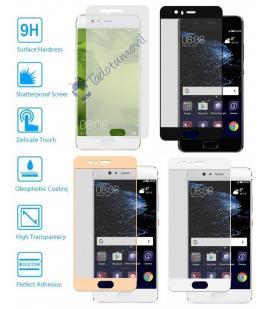 Protector de Cristal Templado Completo 3D 9H para Huawei Ascend P10 Elije Color