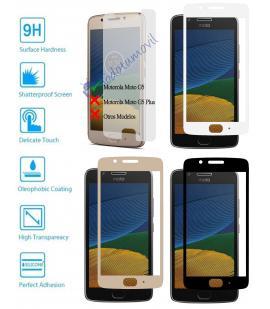 Protector de Cristal Templado Completo 3D 9H para Motorola Moto G5 Elije Color