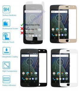Protector de Cristal Templado Completo 9H para Motorola Moto G5 Plus Elije Color