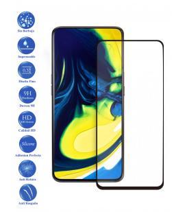 Protector de Cristal Templado Completo 3D 9H para Samsung Galaxy A90 Elige Color