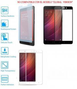 Protector de Cristal Templado Completo 9H para Xiaomi Redmi Note 4 Elige Color