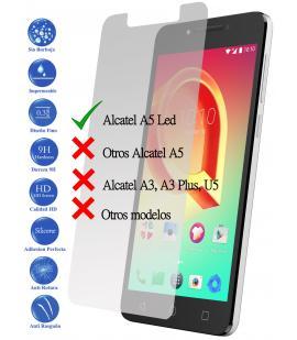 Protector de Pantalla Cristal Templado Vidrio 9H Premium para Alcatel A5 Led 5.2