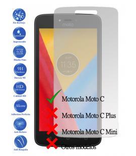 Protector de Pantalla Cristal Templado Vidrio 9H para Motorola Moto C 4G 5.0