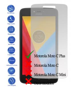 Protector de Pantalla Cristal Templado Vidrio para Motorola Moto C Plus 4G 5.0