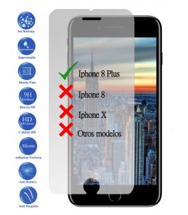 Protector de Pantalla Cristal Templado Vidrio Premium para Apple Iphone 8 Plus
