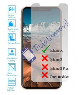 Lote Protector de Pantalla Cristal Templado Vidrio para Apple Iphone X 10 4G 5.8